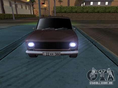 VAZ 2101 arménio para GTA San Andreas esquerda vista