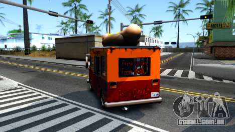 New HotDog Van para GTA San Andreas vista traseira