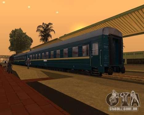 Uma segunda classe de transporte para GTA San Andreas esquerda vista