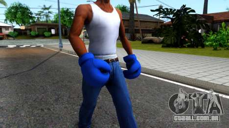 Blue Boxing Gloves Team Fortress 2 para GTA San Andreas segunda tela