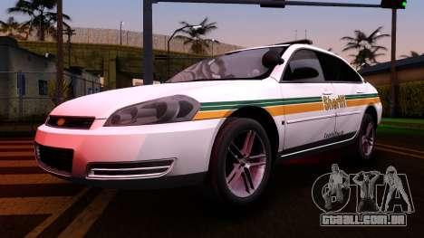 2008 Chevrolet Impala LTZ County Sheriff para GTA San Andreas vista interior