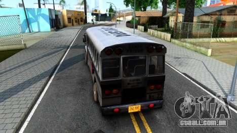 Prison Bus Driver Parallel Lines para GTA San Andreas traseira esquerda vista