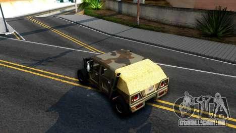 New Patriot GTA V para GTA San Andreas vista direita