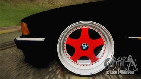 BMW 7 Series E38 Low para GTA San Andreas traseira esquerda vista
