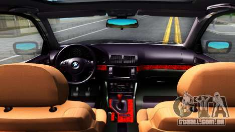 BMW e39 530d para GTA San Andreas vista interior