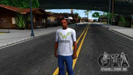 Weezer T-Shirt para GTA San Andreas