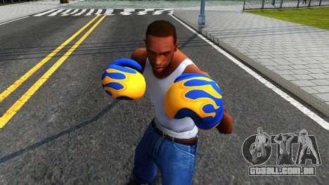 Blue With Flames Boxing Gloves Team Fortress 2 para GTA San Andreas terceira tela