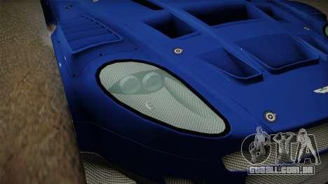 Aston Martin Racing DBR9 2005 v2.0.1 Dirt para GTA San Andreas vista superior
