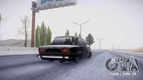 VAZ 2106 versão de inverno para GTA San Andreas vista traseira