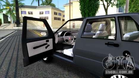 Fiat Uno Fire Mille V1.5 para GTA San Andreas vista traseira