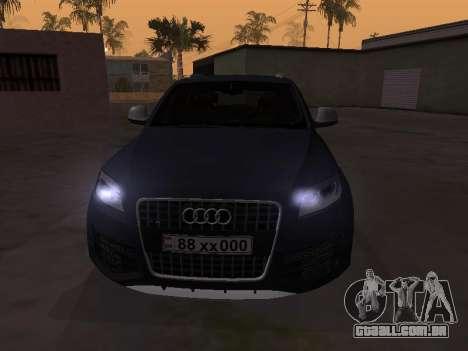 Audi Q7 Armenian para GTA San Andreas esquerda vista