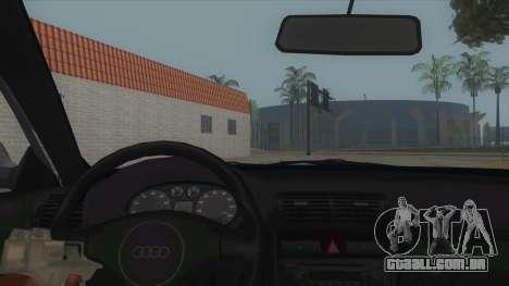 Audi S3 para GTA San Andreas vista interior