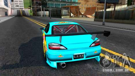 Taneshima Popura NISSAN Silvia S15 Itasha para GTA San Andreas traseira esquerda vista