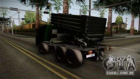 TAM 110 Serbian Military Vehicle para GTA San Andreas traseira esquerda vista