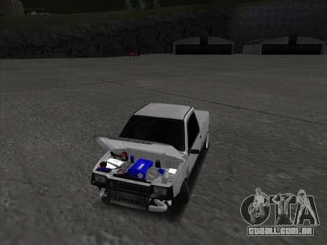 VAZ 1111 Drift para GTA San Andreas vista interior
