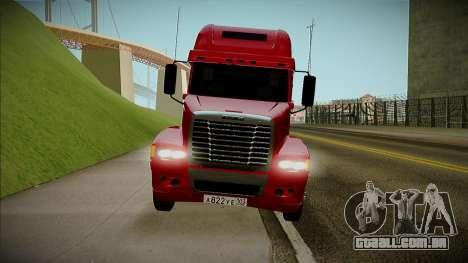 Freightliner Century para GTA San Andreas traseira esquerda vista
