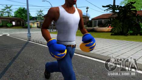 Blue With Flames Boxing Gloves Team Fortress 2 para GTA San Andreas segunda tela