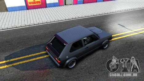 VW Golf Mk1 GTI Stance para GTA San Andreas vista interior