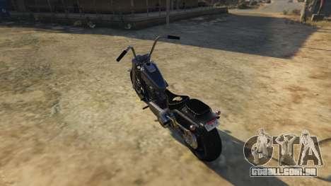 GTA 5 Daemon SOA Harley-Davidson traseira vista lateral esquerda