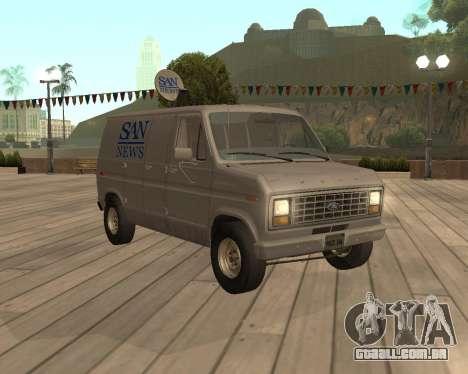 Ford E150 Notícias Van para GTA San Andreas