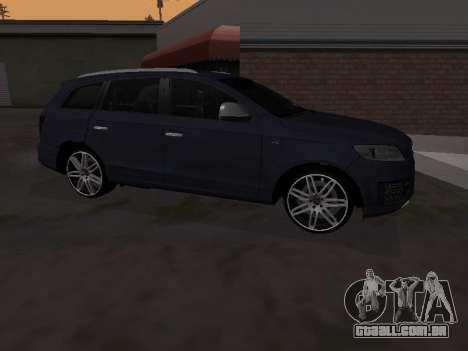 Audi Q7 Armenian para GTA San Andreas traseira esquerda vista