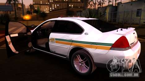 2008 Chevrolet Impala LTZ County Sheriff para GTA San Andreas vista traseira