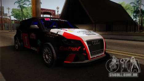 Audi RS3 Sportback Rally WRC para GTA San Andreas vista direita