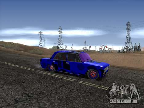VAZ 2101 BC para GTA San Andreas vista traseira