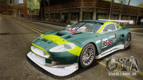 Aston Martin Racing DBR9 2005 v2.0.1 YCH Dirt para GTA San Andreas vista superior