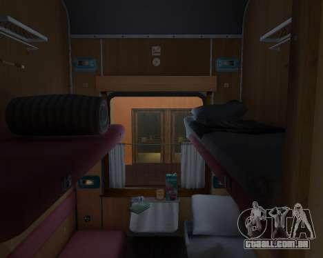 Compartimento de carro caminhos-de-ferro ucrania para GTA San Andreas interior