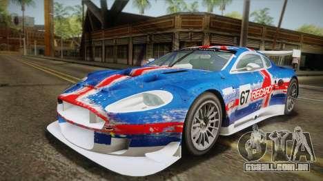 Aston Martin Racing DBR9 2005 v2.0.1 YCH para GTA San Andreas vista interior