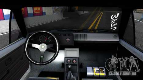 VW Golf Mk1 GTI Stance para GTA San Andreas vista traseira