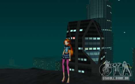 Bloom Rock Outfit from Winx Club Rockstar para GTA San Andreas segunda tela