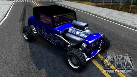 Duke Blue Hotknife Race Car para GTA San Andreas esquerda vista