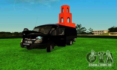 Gazela 3302 Longo para GTA San Andreas esquerda vista