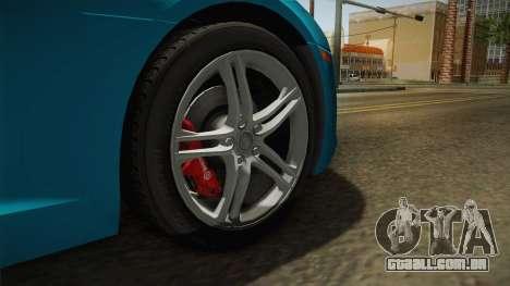 Audi R8 Coupe 4.2 FSI quattro US-Spec v1.0.0 v2 para GTA San Andreas vista traseira