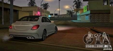 Mercedes-Benz C63 AMG W205 para GTA San Andreas traseira esquerda vista