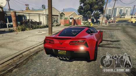 GTA 5 2014 Chevrolet Corvette C7 Stingray voltar vista