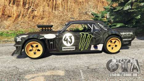 GTA 5 Ford Mustang 1965 Hoonicorn drift [add-on] vista lateral esquerda