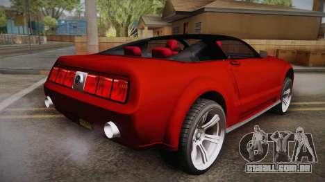 Ford Mustang 2005 para GTA San Andreas esquerda vista