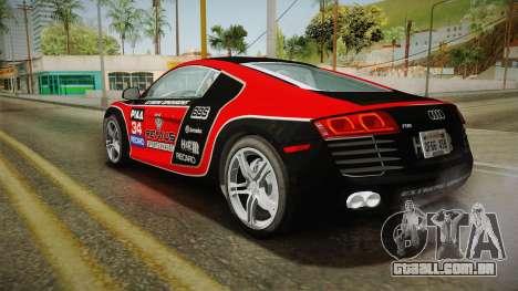 Audi R8 Coupe 4.2 FSI quattro US-Spec v1.0.0 v2 para as rodas de GTA San Andreas
