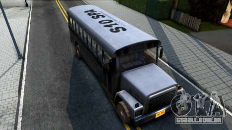 Prison Bus Driver Parallel Lines para GTA San Andreas vista traseira