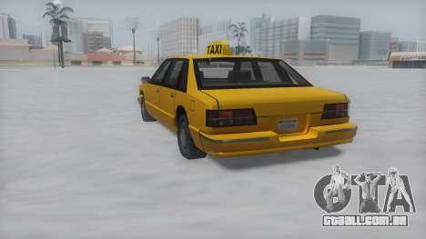 Taxi Winter IVF para GTA San Andreas esquerda vista