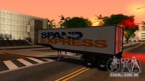 Box Trailer V2 para GTA San Andreas esquerda vista