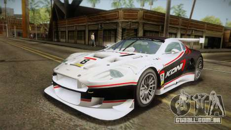 Aston Martin Racing DBR9 2005 v2.0.1 YCH Dirt para o motor de GTA San Andreas