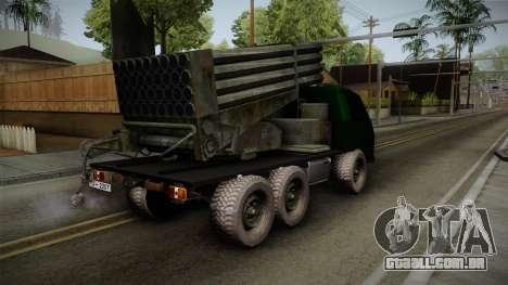 TAM 110 Serbian Military Vehicle para GTA San Andreas esquerda vista