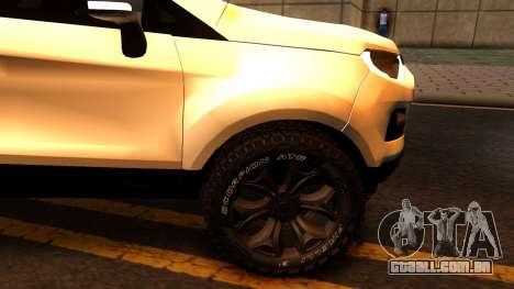 Ford EcoSport 2016 para GTA San Andreas vista interior