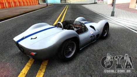 Maserati Tipo 61 para GTA San Andreas traseira esquerda vista