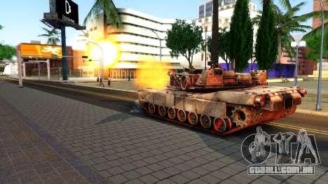 M1A1 Abrams COD4MW Remastered para GTA San Andreas vista direita