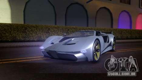 GTA V Vapid FMJ Roadster para GTA San Andreas vista traseira